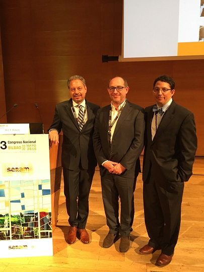 ARRS President, Dr. Mauricio Castillo, received SERAM Honorary Membership. Dr. Castillo and Dr. Roy Riascos presented lectures on neuroradiology during the Congress.l